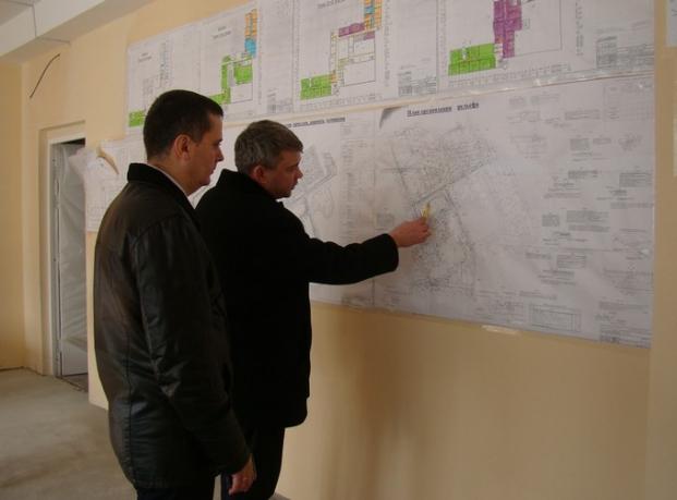 Ознакомление с ходом строительства школы в микрорайоне Западный.